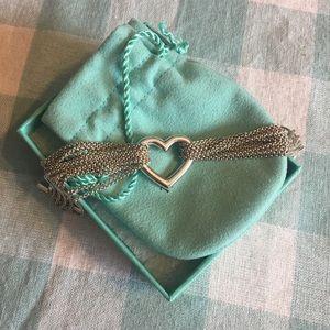 Tiffany & Co. Ten Strand Heart Bracelet, Sterling